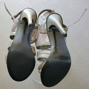 Zara Shoes - Zara Mesh Leather Heels